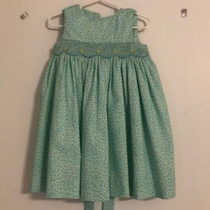 Luli & Me turquoise dress with floral detail